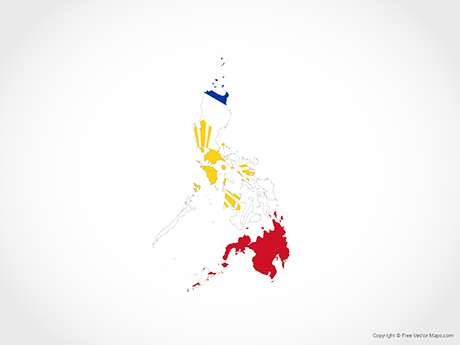 Free Vector Map of Philippines - Flag