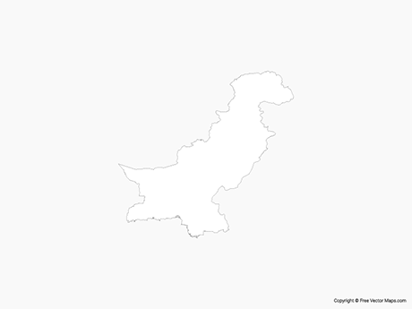 Free Vector Map of Pakistan - Outline