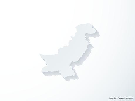 Free Vector Map of Pakistan - 3D