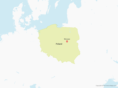 Free Vector Map of Poland