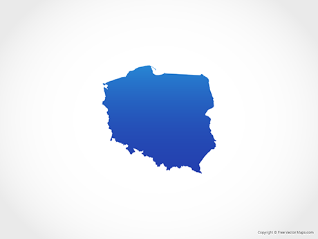 Free Vector Map of Poland - Blue
