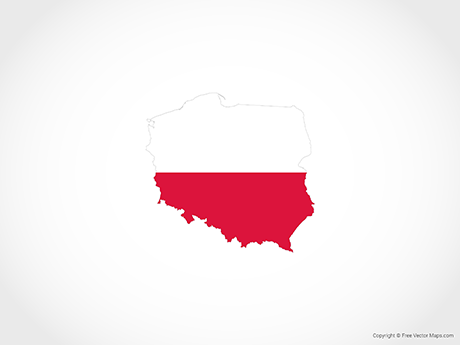 Free Vector Map of Poland - Flag