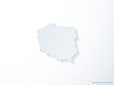 Free Vector Map of Poland - 3D