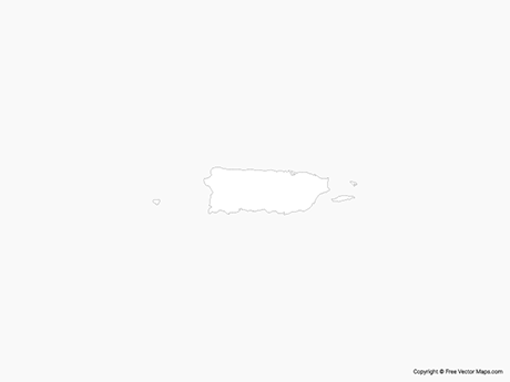 Free Vector Map of Puerto Rico - Outline