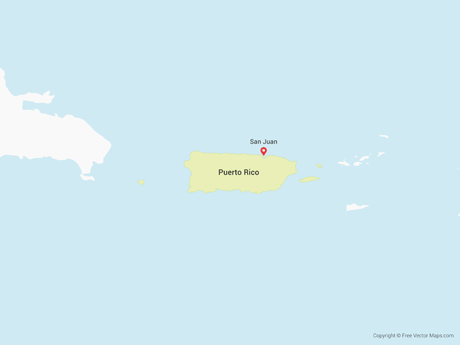 Free Vector Map of Puerto Rico