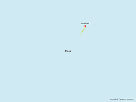 Map of Palau