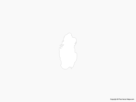 Free Vector Map of Qatar - Outline