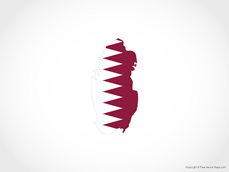 Free Vector Map of Qatar - Flag