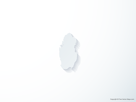 Free Vector Map of Qatar - 3D