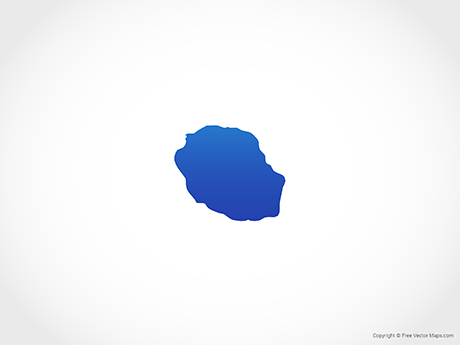 Free Vector Map of Réunion - Blue
