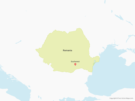 Free Vector Map of Romania