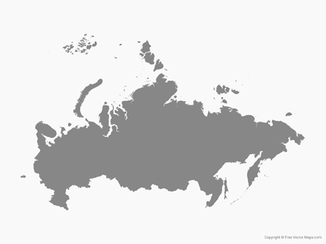 Vector Map of Russia  Single Color  Free Vector Maps