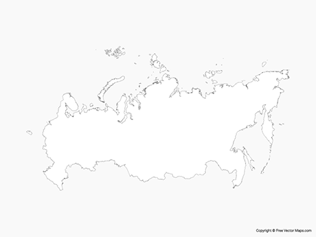 Free Vector Map of Russia - Outline