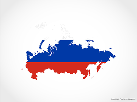 Free Vector Map of Russia - Flag