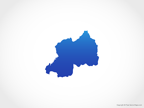Free Vector Map of Rwanda - Blue