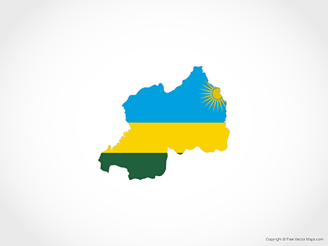 Free Vector Map of Rwanda - Flag