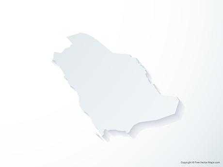 Free Vector Map of Saudi Arabia - 3D