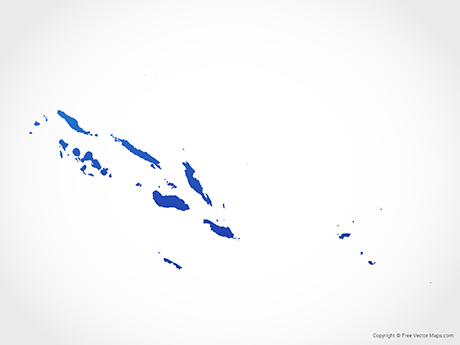 Free Vector Map of Solomon Islands - Blue