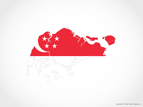 Free Vector Map of Singapore - Flag