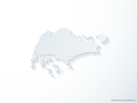 Free Vector Map of Singapore - 3D