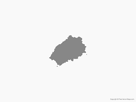 Free Vector Map of Saint Helena - Single Color