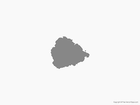 Free Vector Map of Ascension Island - Single Color