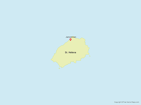 Free Vector Map of Saint Helena