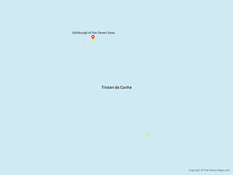 Map of Tristan da Cunha