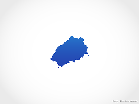 Free Vector Map of Saint Helena - Blue