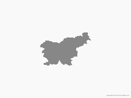 Free Vector Map of Slovenia - Single Color