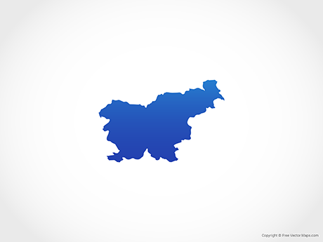 Free Vector Map of Slovenia - Blue