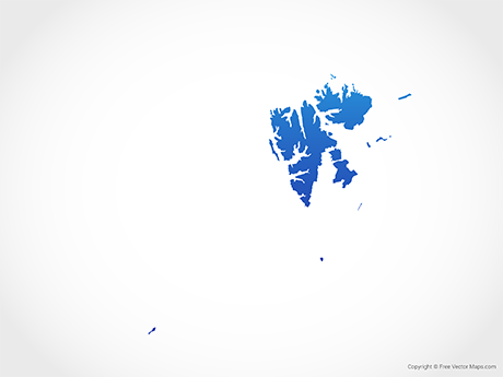 Free Vector Map of Svalbard and Jan Mayen - Blue