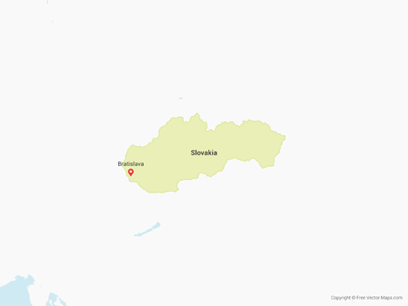 Free Vector Map of Slovakia