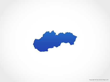 Free Vector Map of Slovakia - Blue