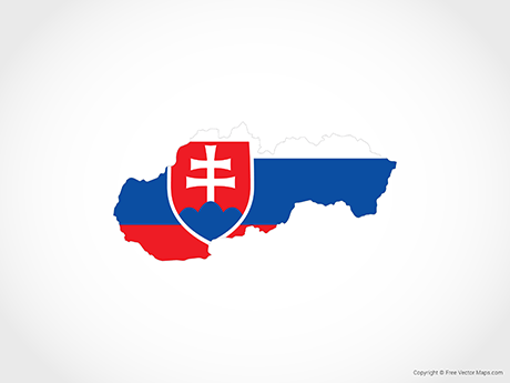 Free Vector Map of Slovakia - Flag