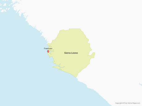 Free Vector Map of Sierra Leone