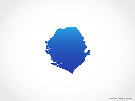 Free Vector Map of Sierra Leone - Blue