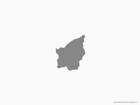 Free Vector Map of San Marino - Single Color