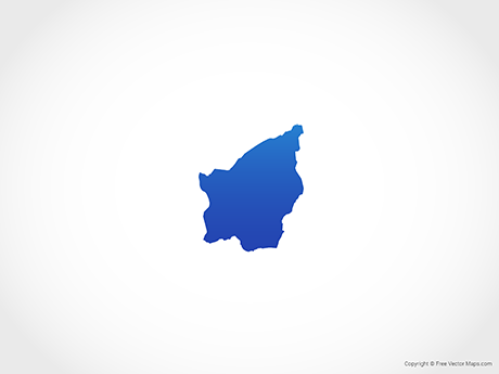 Free Vector Map of San Marino - Blue