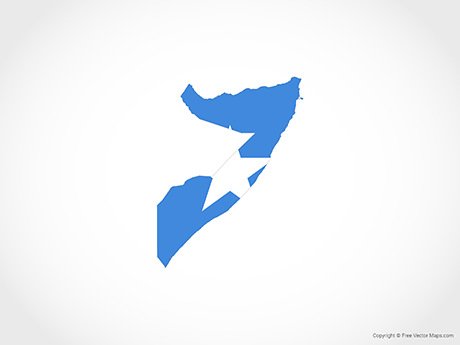 Free Vector Map of Somalia - Flag