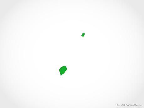 Free Vector Map of São Tomé and Príncipe - Flag