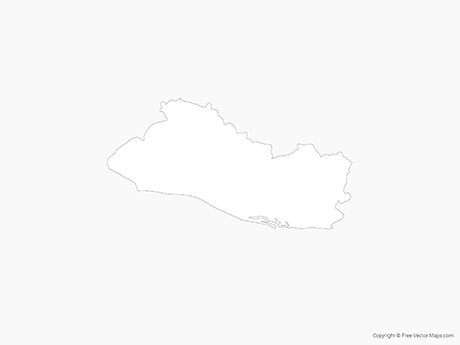 Free Vector Map of El Salvador - Outline