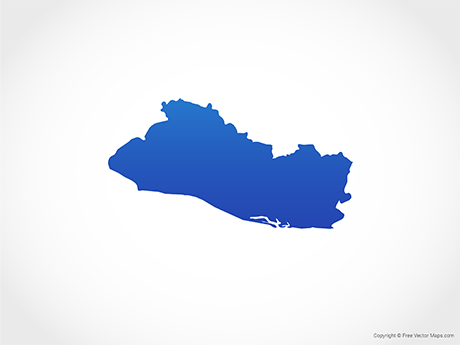 Free Vector Map of El Salvador - Blue