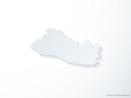 Free Vector Map of El Salvador - 3D