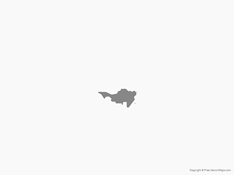 Free Vector Map of Sint Maarten - Single Color