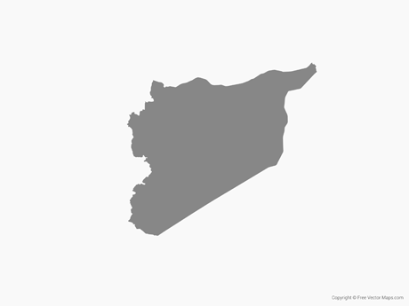 Free Vector Map of Syria - Single Color