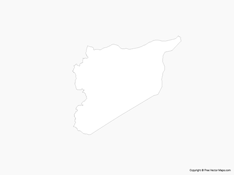 Free Vector Map of Syria - Outline