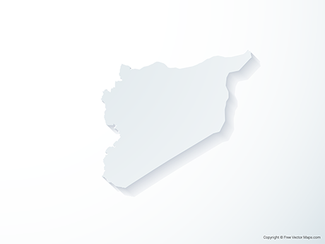 Free Vector Map of Syria - 3D