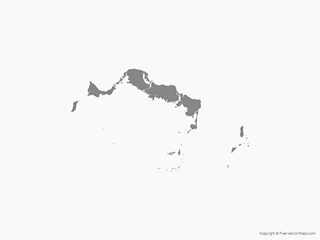 Free Vector Map of Turks and Caicos Islands - Single Color