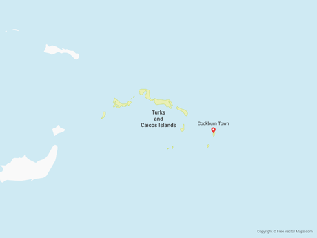 Free Vector Map of Turks and Caicos Island
